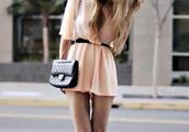 dress,bag,clothes,jumpsuit,pink,summer,cute,summer dress,combishort,robe,belt,peach dress,pearl,peach,romper,pink romper,silver pumps,black shoulder bag,shoulder bag,black bag,mini dress,belted dress,pumps,pointed toe pumps,summer outfits