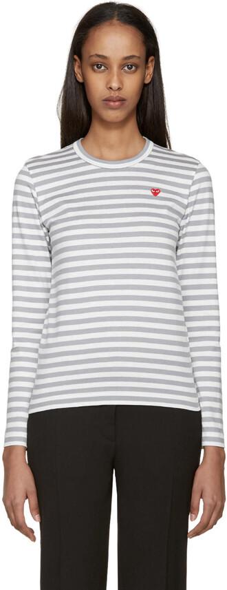 t-shirt shirt heart white grey top