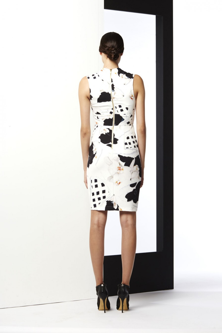 THE DIVIDED CROSS OVER BODYCON DRESS