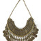 Natalie b jewelry fit for a queen statement collar in brass