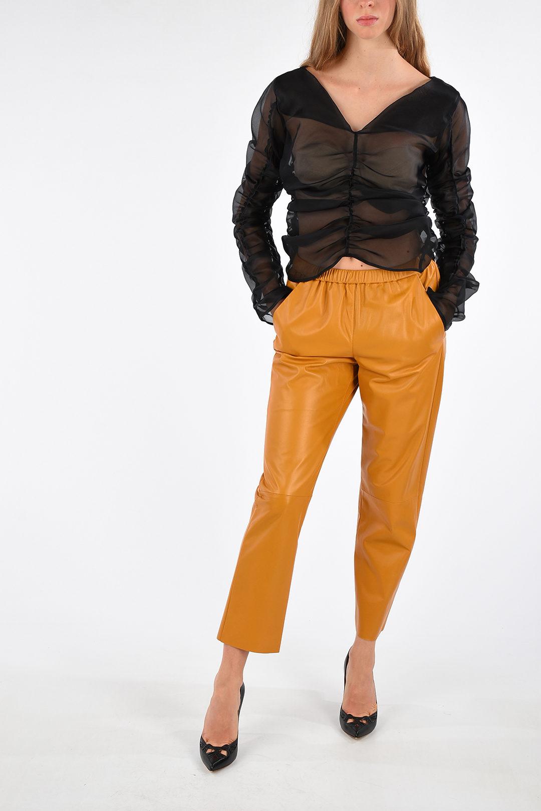 DROMe Capri Leather Pants women - Glamood Outlet