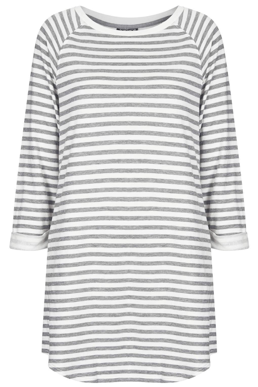 Stripe Raglan Sweat Tunic