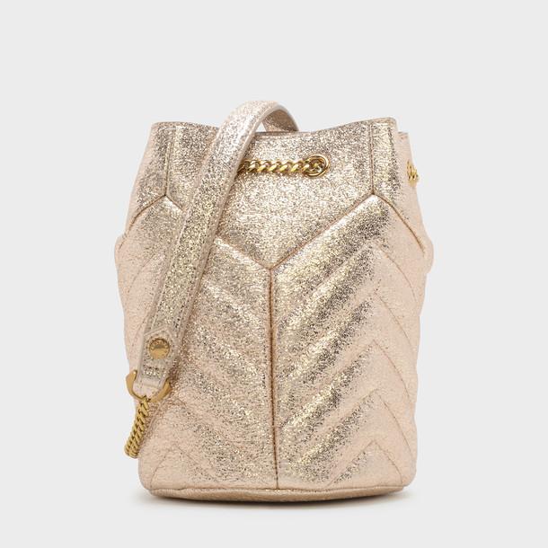 drawstring bag gold