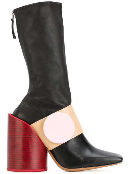 Jacquemus women leather black neoprene shoes