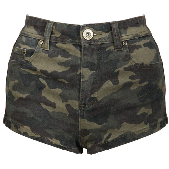 camouflage shorts cute High waisted shorts green