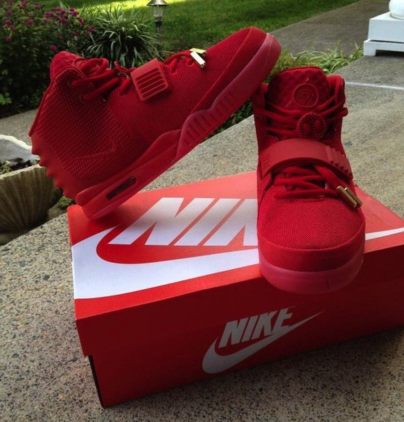 shoes nike yeezy red