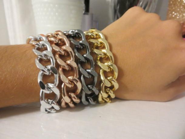 jewels etsy chain chain jewelry gold bracelet silver bracelet