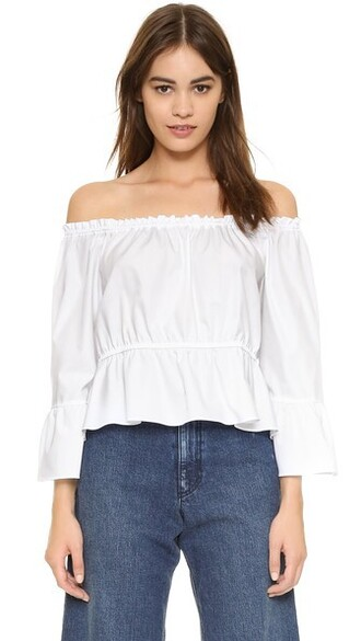 top flare white