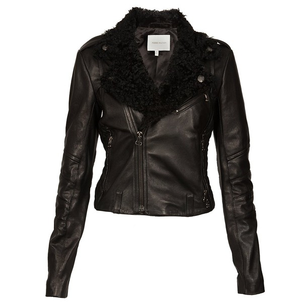 jacket leather jacket clothes fur fur coat top zips