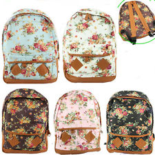 Fashion Vintage Cute Flower School Book Campus Bag Backpack New | eBay