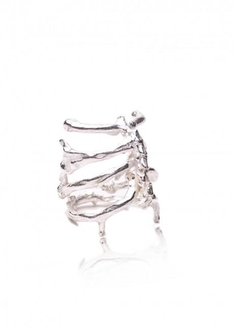 Noemi Klein Ribcage Ring – Silver | BENGT FASHION
