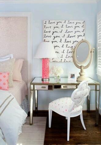 home accessory desk girly love frame