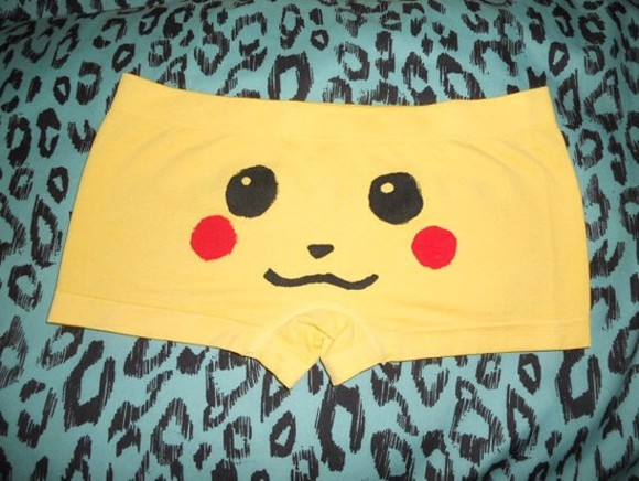 pokemon cute shorts yellow