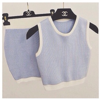 top crop matching set matching skirt and top bodycon skirt bodycon stripes skirt knitwear set knitted crop top