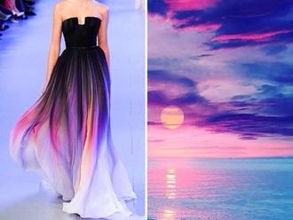dress purple dress ocean sky dress boho dress catwalk fashion