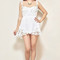 White floral crochet detail playsuit – sirenlondon