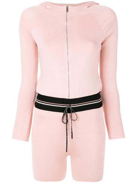 LA PERLA style women spandex silk purple pink romper
