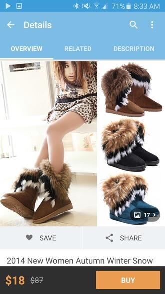 shoes boots fur cute