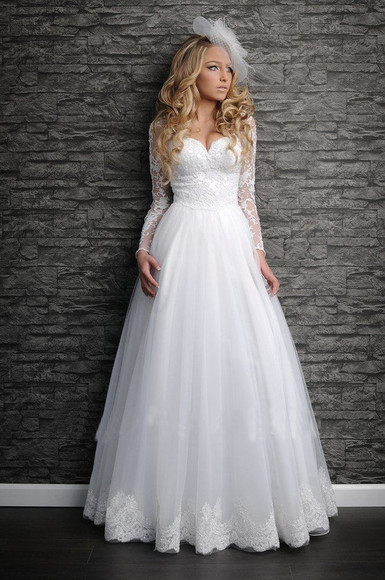 dress wedding dress lace top wedding dress vintage wedding dress lace wedding dresses a-line wedding dresses 2014 wedding gowns