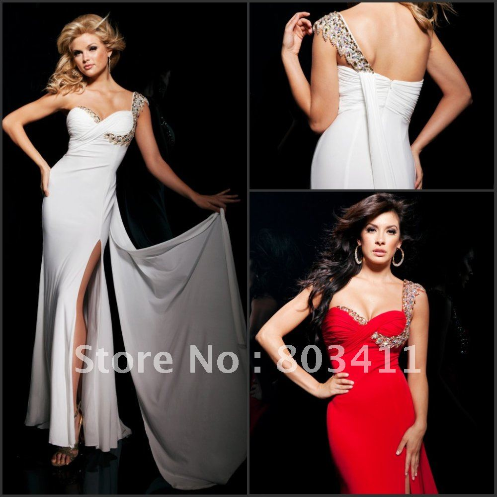 Free shipping strapless sweetheart neckline beaded belt high low tulle prom dress