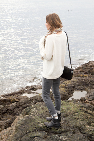 styling my life blogger sweater grey jeans