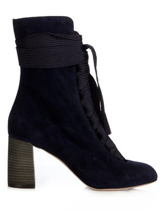 suede ankle boots boots ankle boots lace suede navy shoes