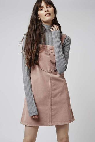 dress spring spring dress peach overalls