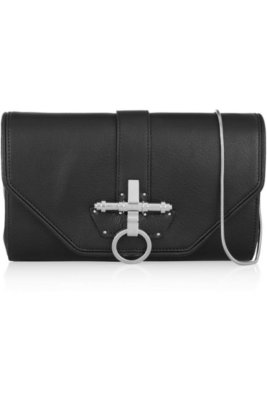 Givenchy|Obsedia clutch in black leather|NET-A-PORTER.COM