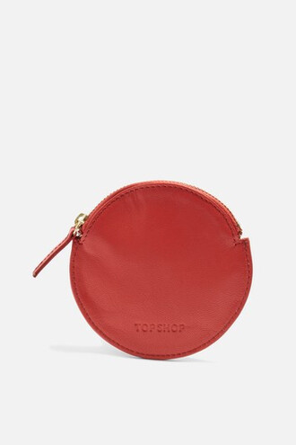 purse leather red bag