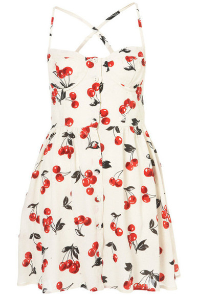 cherry dress short dress
