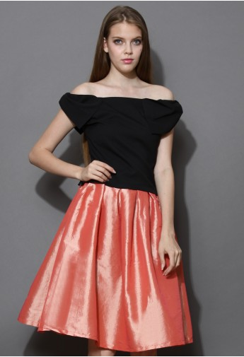 Bowknot Off-Shoulder Top in Black - Retro, Indie and Unique Fashion