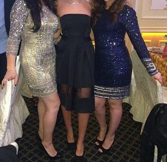 dress navy blue dress sequins sequin dress embellished embellished dress