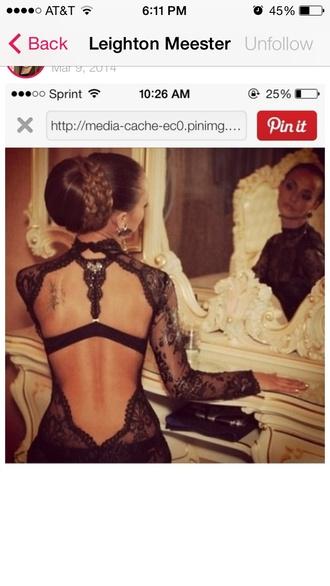 dress leighton meester lace dress prom dress