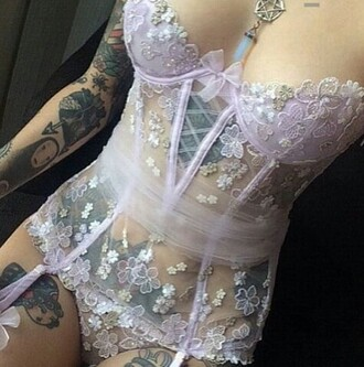 underwear lingerie purple lavender bra garter corset pastel tumblr lingerie set purple prom dresses lavender promdress