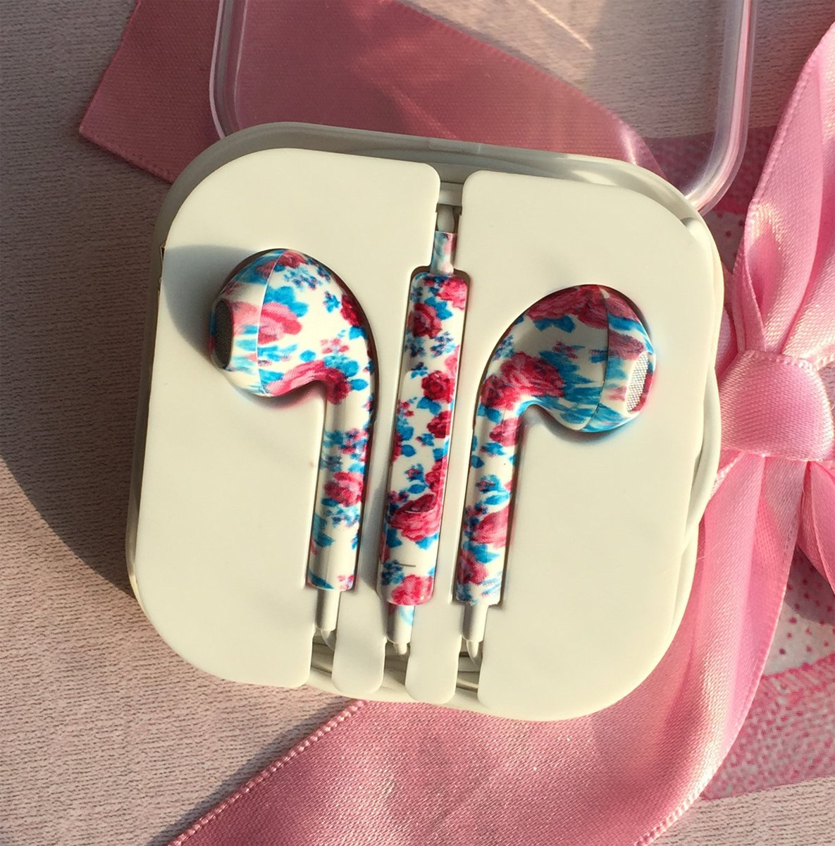 Amazon.com: Crazy Panda New Special Cool Design Cute Lovely Painting Earbuds with Mic and Volume Control Stereo Quality Earphones (flowers ocean): Cell Phones & Accessories
