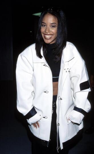 jacket baggy r&b street 90s style vintage aaliyah haughton