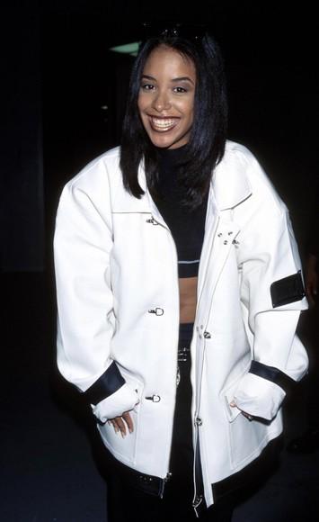 oversized jacket vintage r&b street 90s style aaliyah haughton