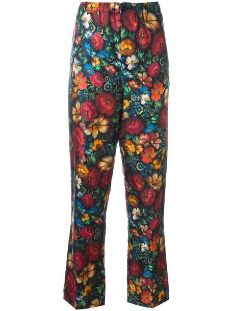women floral print silk pants