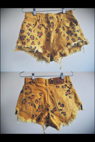 shoes vintage leopard print high waisted short shorts