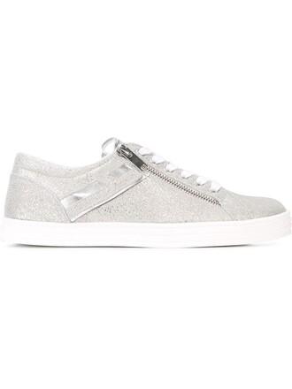zip sneakers metallic shoes