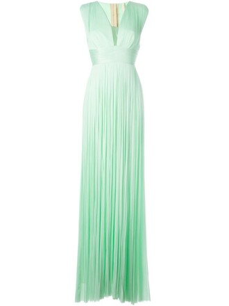 gown green dress