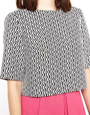 Asos shell top with mono geo print at asos
