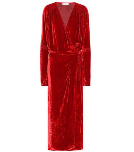Attico dress velvet dress velvet red