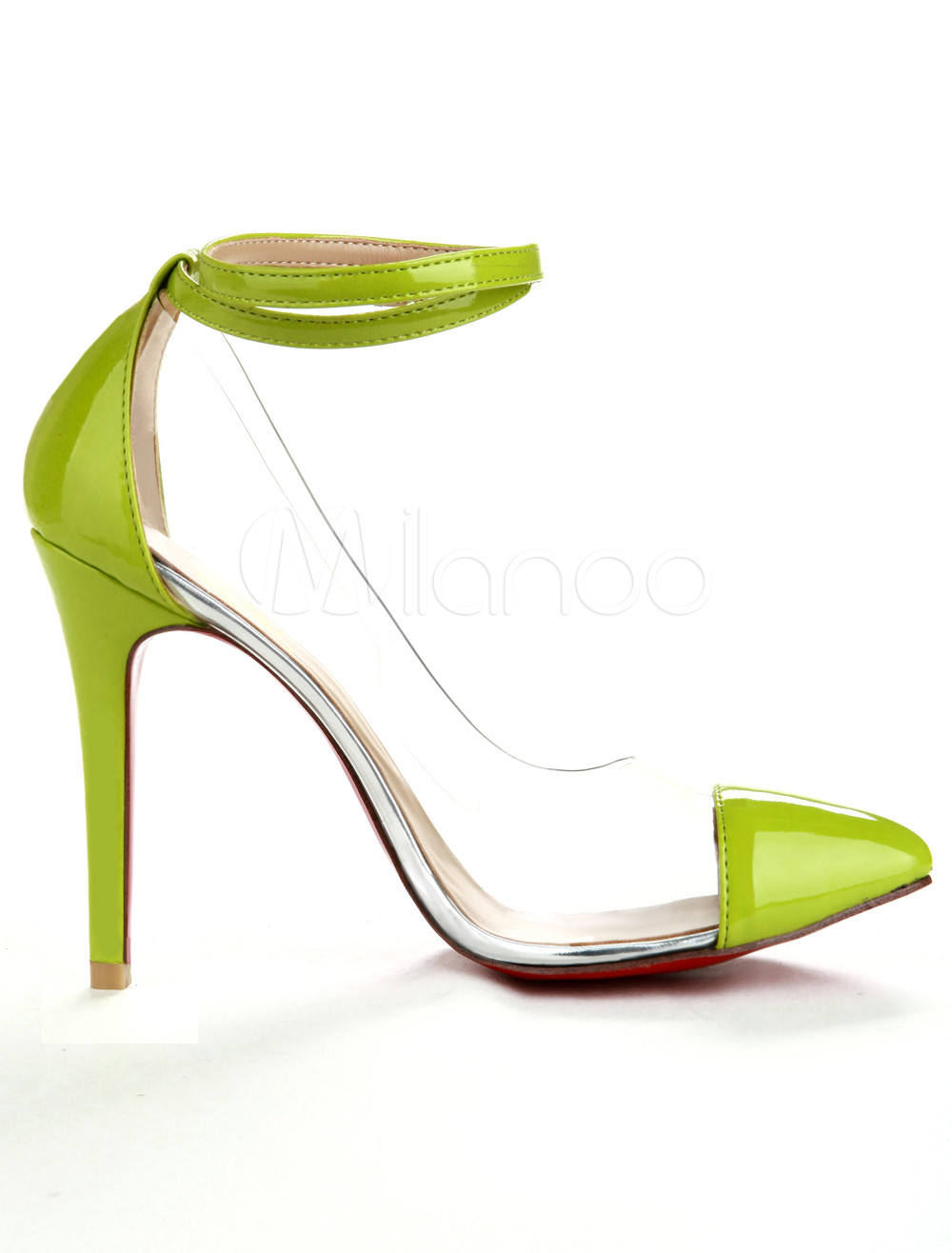 Green  Ankle Strap PC Women's Shoes - Milanoo.com