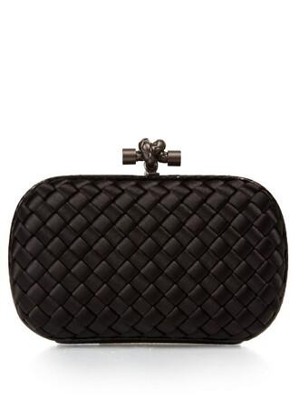 snake water clutch satin black bag