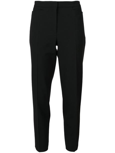 Odeeh cropped women spandex cotton black wool pants