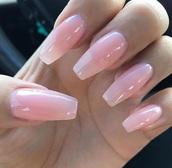 nail accessories,nail polish,opi,nails,coffin nails,pink,translucent,tumblr,tumblr nails,pretty,peng,pinterest,uñas