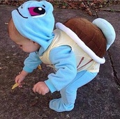 jumpsuit,pokemon turtle,blue coat,baby clothing,turtle,pokemon