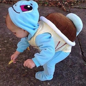 jumpsuit pokemon turtle blue coat baby clothing turtle pokemon