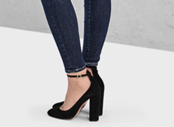 0633d547f05 shoes closed toe heels block heels ankle strap